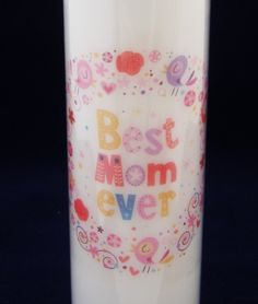 Best Mom Ever Bright Floral Handmade Candle - Great Gift for mums birthday or Mother's Day by TheCandleandCardCo on Etsy