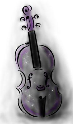 Violin Tattoo Design - Idea by *Scream-Deafening on deviantART