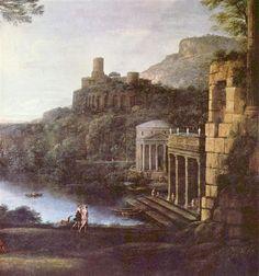 Claude Lorrain, Landscape with nymph Eugeria and Numa, 1669