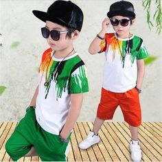 Little Boy Outfits, Baby Boy Outfits, Kids Outfits, Baby Set, Boys T Shirts, Casual T Shirts, Boys Clothes Online, T Shirt Top, Tracksuit Set