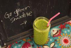 Go Green Smoothie Recipe by NICOLEJOELLE via @SparkPeople