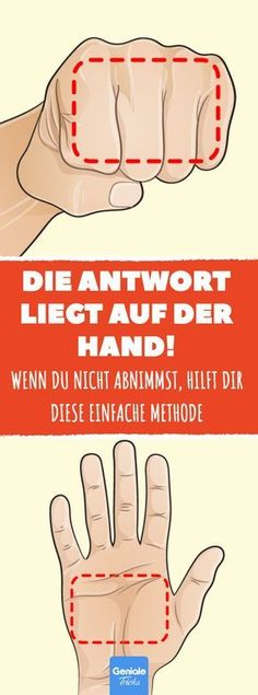 Hand trick helps you lose weight. - If you don& lose weight, help yourself with your hand! Help Losing Weight, Lose Weight, Weight Loss, Hand Tricks, Gewichtsverlust Motivation, Health Promotion, Diet And Nutrition, Good To Know, Healthy Life