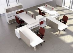 open floor office layouts | Back to the Future with Workplace Benching Systems | Carolina Interior ...