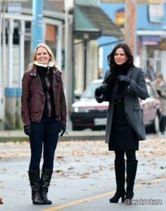 Lana and Jennifer on set 18th November.