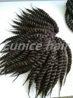 Havana mambo twist crochet braiding hair 12 roots/pcs synthetic hair extensions with free shipping and bead