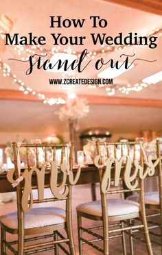 """""""Mr & Mrs"""" wedding chair signs are the most stylish choice for your wedding chair decor, table decor, or even for your wedding photos. This gorgeous wedding sign set says """"Mr & Mrs"""" and is cut to prec"""
