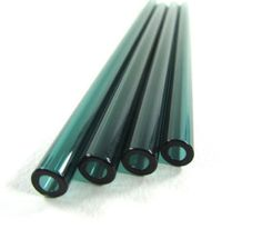 Glass Drinking Straws - Teal