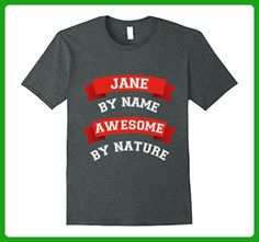 Mens Cute Awesome Jane Gift T-Shirt / Jane Birthday TShirt 3XL Dark Heather - Birthday shirts (*Amazon Partner-Link)