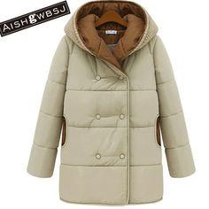 43.40$  Buy here - AISHGWBSJ 2017 new women winter jacket knitted cotton parka feminina snow coats padded jackets causal hooded coats casacos PL038  #aliexpresschina
