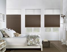 Bali Cellular Shades are available in an extensive selection of fabrics, allowing you to customize your window treatments. Honeycomb design provides energy efficiency and sound absorption of any window treatment. Cellular Blinds, Cellular Shades, Bedroom Windows, Blinds For Windows, Window Blinds, Bay Window, Bali Blinds, Home Cooler, Blackout Shades