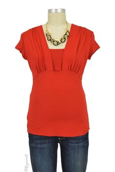 Ashley Nursing Top in Red. Please use coupon code NewProducts to receive 15% off these items. To receive the discount, please place your order by midnight Monday, March 14, 2016