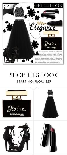 """""""Get the Look: Met Gala 2016"""" by maki007 ❤ liked on Polyvore featuring Dolce&Gabbana, Schutz, Bobbi Brown Cosmetics, GetTheLook and MetGala"""