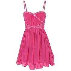 Little Mistress Prom Dress (€24) ❤ liked on Polyvore featuring dresses, vestidos, pink dresses, ruched cocktail dress, chiffon cocktail dress, chiffon dress, prom dresses and cocktail prom dress