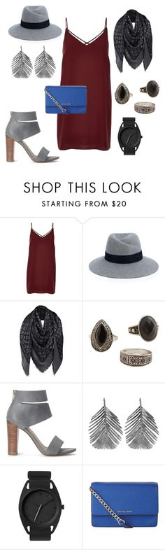 """A night at the art cinema"" by hillary-raque-dodge ❤ liked on Polyvore featuring River Island, Maison Michel, Louis Vuitton, MANGO, Splendid, Alex Monroe and MICHAEL Michael Kors"