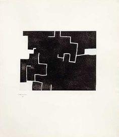EDUARDO CHILLIDA 74 x 50 cm Museo de arte abstracto español de Cuenca