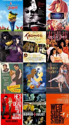 William Shakepeare's Romeo and Juliet has a plethora of movie spinoffs. Here are just a few.