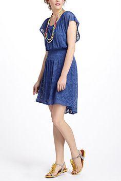 Smocked Mini Dress - anthropologie.com