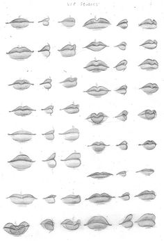 Manga Drawing Ideas Okay, MANGA lips are so hard to come by but these aren't manga or anime but gave me some lip ideas ; Drawing Techniques, Drawing Tips, Drawing Reference, Drawing Ideas, Anatomy Reference, Drawing Skills, Body Reference, Design Reference, Pencil Art Drawings