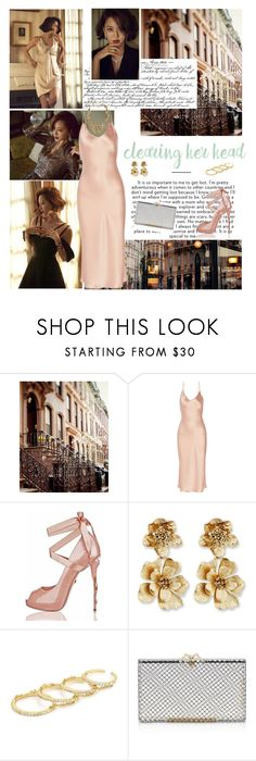 """""""I'm spinning around you"""" by ita-varela ❤ liked on Polyvore featuring Zara, Protagonist, Oscar de la Renta, Fallon and Charlotte Olympia"""