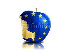 Angebissener Euroapfel
