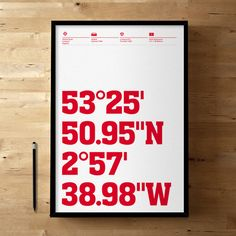 Liverpool FC, Anfield Coordinates, Football / Soccer Posters and Prints #ynwa
