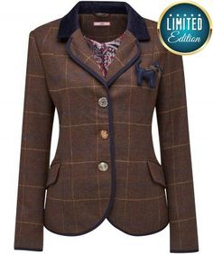 """Perfect for adding traditional charm to any outfit, the blazer style cut is smart and chic. Add instant sweetness to your look with gorgeous mixed buttons and a cute detachable dog corsage. A gorgeous jacket. Approx Length: 65cm Our model is: 5'7"""" Waistcoat and shirt sold separately"""