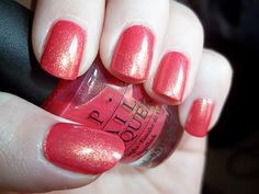 OPI Bright Lights Big Color is from their Brights Collection. It is a peachy coral, with a golden yellow shimmer which makes it gorgeous. Best Nail Polish, Nail Polish Colors, Pink Cotton Candy, Pink Candy, Winter Nails, Summer Nails, Coral Nails, Nail Polish Collection