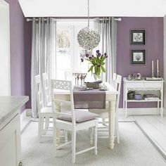 The Entertaining House Color Purple Dining Room