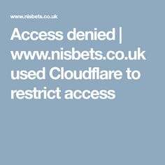 Access denied | www.nisbets.co.uk used Cloudflare to restrict access