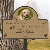 Personalized Pet Memorial Yard Stake - Pawprints In Heaven - Pet Gifts