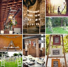 Ladder decor for your wedding