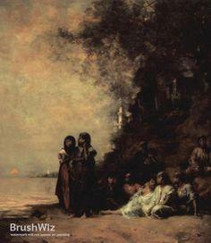 Remember Esneh by Eugene Fromentin - Oil Painting Reproduction - BrushWiz.com