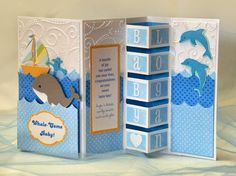 "A Star For Chiemi: ""Whale-Come"" Baby! Building Blocks Card"