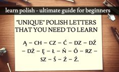 Want to learn Polish? Here's an easy guide for BEGINNERS. You'll learn phrases, get free and PDF lessons, plus TONS of learning resources. Learn Polish, Polish Words, Polish Language, Language Lessons, Polish Recipes, Learning Resources, Ancestry, Trivia, Languages