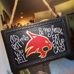 Texas State bobcat tin sign by KuskisCalligraphy on Etsy