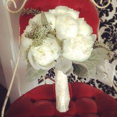 Peony white bouquet.