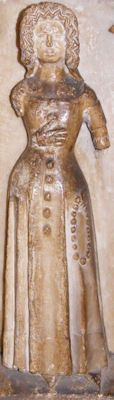 Thomas Beauchamp and wife Katherine mortimer weeper 24, Warwick, 1369