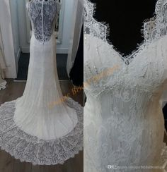 Vintage Lace Wedding Dresses 2017 With Scalloped Neck And Lace Back Real Image Fully Lace Vestidos De Novia Court Train Brides Dress Affordable Wedding Dress Affordable Wedding Gowns From Uniquebridalboutique, $142.67| Dhgate.Com