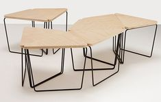 Fractal coffee table furniture modular table, coffee table d