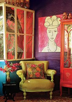 ⋴⍕ Boho Decor Bliss ⍕⋼ bright gypsy color & hippie bohemian mixed patter… - Bohemian Home İdeas Bohemian Style Rooms, Bohemian Interior, Bohemian Decor, Hippie Bohemian, Boho Chic, Modern Bohemian, Boho Style, Shabby Chic, Bohemian Bedding
