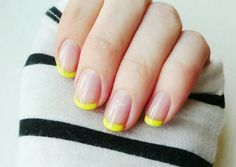 Yellow French Tip