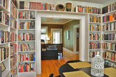 Seriously....if I had these bookshelves, I would be in HEAVEN!