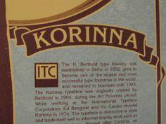 Korinna type poster #typography