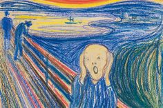 """Famous """"Scream"""" Painting by Edvard Munch Most Expensive Painting, Expensive Art, Le Cri Edvard Munch, Picasso, Scream, Famous Artwork, Ecole Art, Oil Painting For Sale, Painting Classes"""