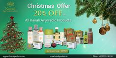 This Christmas Kairali brings special offer of 20% on all ayurvedic products. Kairali ayurvedic products are 100% ayurvedic and known for its result and effectiveness. Kairali Products recognized as a most trusted ayurvedic products, herbal cosmetics manufacturer and supplier in the world. Celebrate Christmas with health and wholesomeness of Kairali Ayurvedic products, use the Coupon code XNYR20 to avail the offer.  Check our all offers at http://www.kairaliproducts.in/offers…