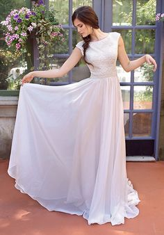 Modest by Mon Cheri TR11841 A-Line Wedding Dress