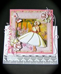Card Gallery - 1950's Style Pink and Lemonade Roses Mini Kit