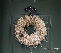 DIY Halloween Decor DIY Halloween Crafts : DIY BURLAP WREATH
