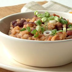 Cuban-style Red Beans and Rice from Cooking Light - yummy, and the entire family loves it