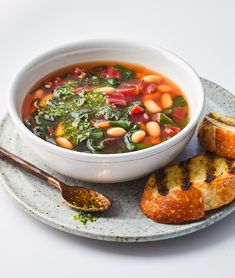 Soupe au pistou is a Provençal take on minestrone featuring a nut-free pesto. Nut Free Pesto, Soup Recipes, Dinner Recipes, Chard Recipes, Bean Recipes, Unique Garden, Green Soup, Healthy Summer Recipes, Food Reviews